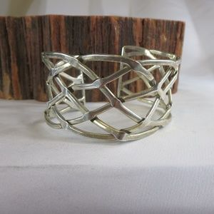 Sterling Silver Braided Taxco Cuff Bracelet